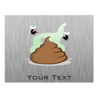 Stinky Poo; Metal-look Postcard