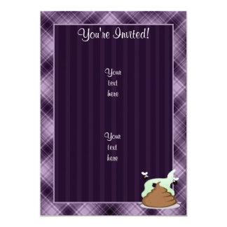 Stinky Poo; Purple 13 Cm X 18 Cm Invitation Card