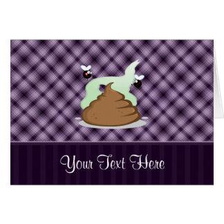 Stinky Poo; Purple Greeting Card