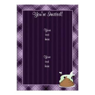 Stinky Poo Purple Custom Invite