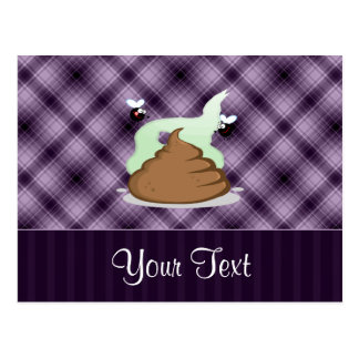 Stinky Poo; Purple Postcard