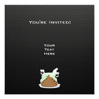 Stinky Poo Sleek Personalized Invite