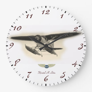 Stinson Bush Pilot Large Clock