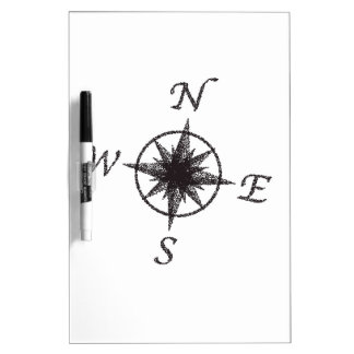 Stipple Compass Face Dry Erase Board