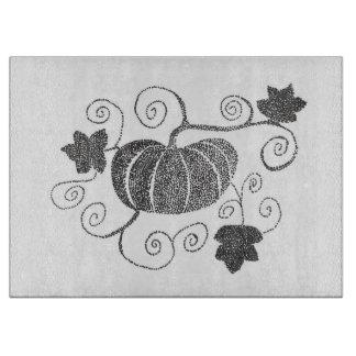 Stippled Pumpkin Cutting Board