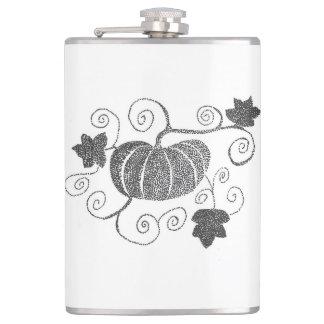 Stippled Pumpkin Hip Flask