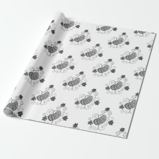 Stippled Pumpkin Motif Wrapping Paper