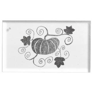 Stippled Pumpkin Place Card Holder