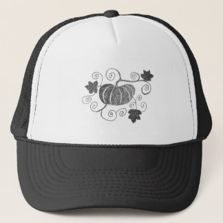 Stippled Pumpkin Trucker Hat