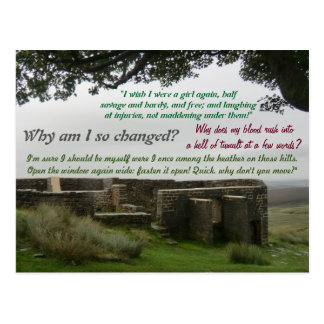 Stir Crazy at Top Withins: Wuthering Heights Site Postcard