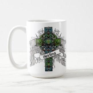 Stirling Tartan Cross Coffee Mug