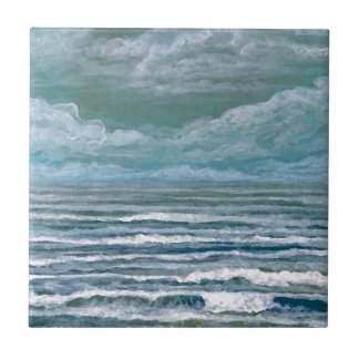 Stirred Up Sea Ocean Painting Beach Art Gifts Tile