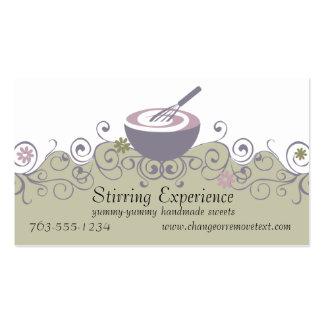 stirring bowl whisk baking batter bakery busine... Double-Sided standard business cards (Pack of 100)
