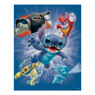 Stitch and Friends Poster