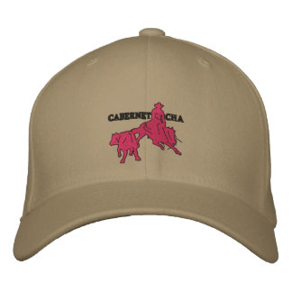 Stitch Cabernet CHA Kaki Casquette Rose Embroidered Hat