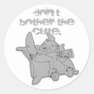 Stitch Classic Round Sticker