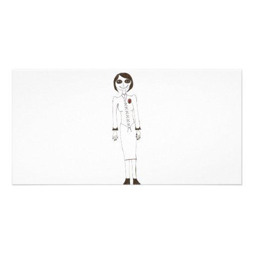 Stitch creepy custom photo card