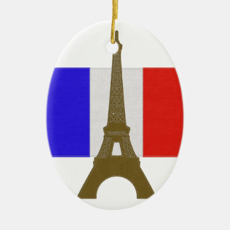 Stitch Eiffel Tower Ceramic Oval Decoration