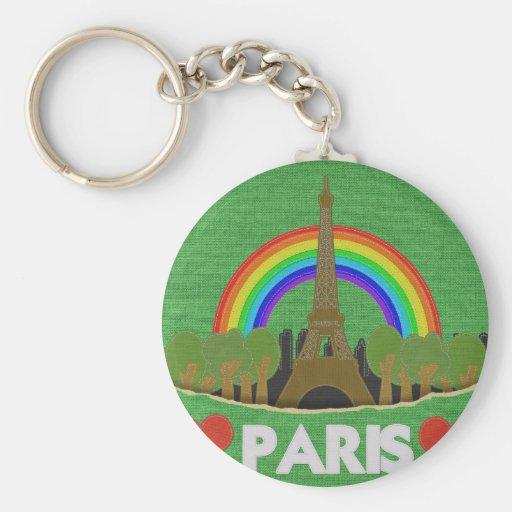 Stitch Eiffel Tower Keychain