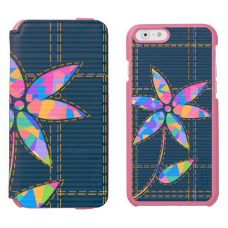 Stitched Colorful Flower Girly Incipio Watson™ iPhone 6 Wallet Case