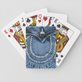 Stitches on Jeans Pocket Playing Cards