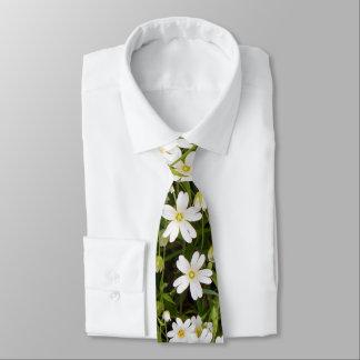 Stitchwort Stellaria Wild Flowers Neck Tie