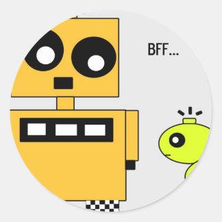 STIX: BFF ROUND STICKER