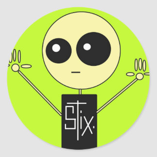 STIX: STIX GUY ROUND STICKER