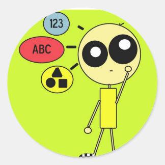 STIX: Thoughts are Creative Round Sticker