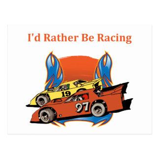 Stock Car Racing Post Card
