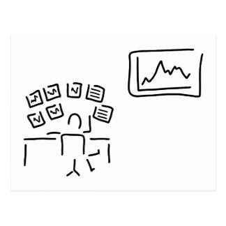 stock exchange stock broker fund manager postcard