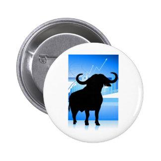 Stock Market Bull Pinback Button
