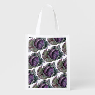 Stock market buys re-usable with watercolor of reusable grocery bag