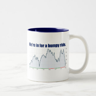STOCK MARKET CHART BUMPY RIDE Two-Tone COFFEE MUG