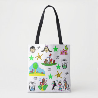 Stock market Child loves drawing! Tote Bag