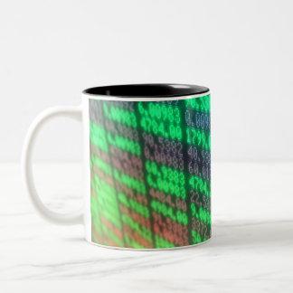 Stock Market Digital Board Two-Tone Coffee Mug