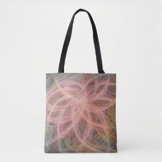 stock market drawing flowers tote bag