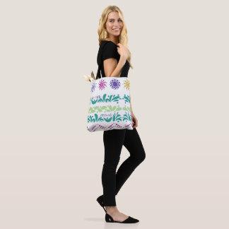 Stock market ethnic style tote bag