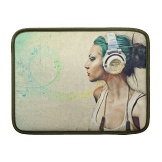 """Stock market for MacBook """"Woman music """" Sleeve For MacBook Air"""