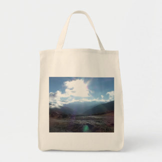 Stock market for the purchase grocery tote bag