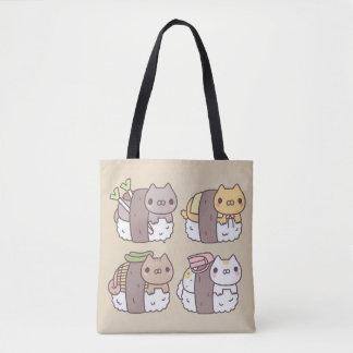 Stock market Kittens Sushi Kawaii Tote Bag