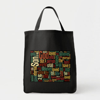 Stock market of Juan purchases 3:16 Grocery Tote Bag
