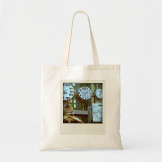 Stock market of purchases budget tote bag