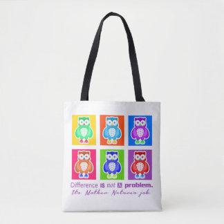 Stock market Owl Tote Bag