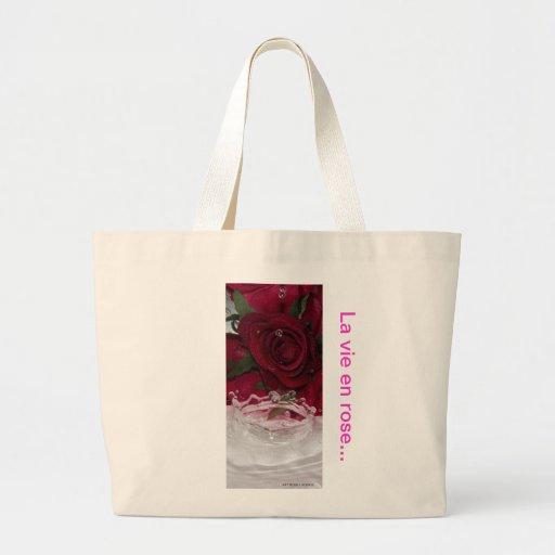 "Stock market photo splash ""There vie en rose "" Tote Bags"