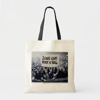 "Stock market tote white ""Rock N' Roll """
