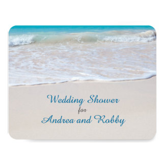 Stock the Bar Beach Wedding Shower Card