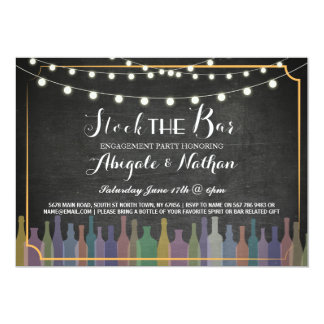 Stock The Bar Chalk Couple's Shower Invitation