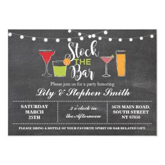 Stock The Bar Chalk Engagement Shower Invitation