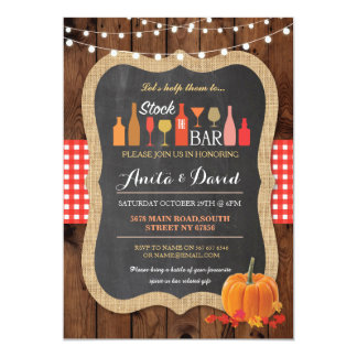 Stock The Bar Fall Pumpkin Engagement Invitation